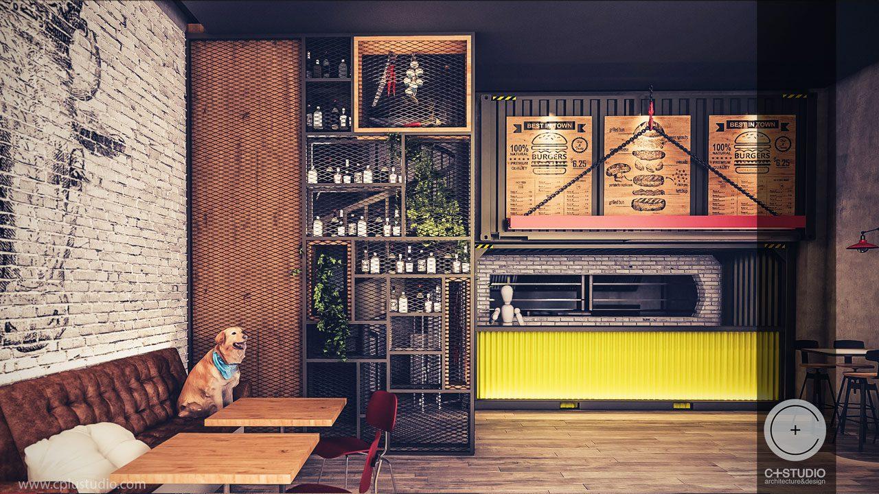 Informations Best Home Interior Design | Burger House Restaurant Interior Design C Studio Architects